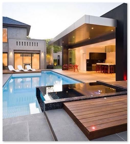 Ruang santai dekat dengan kolam renang